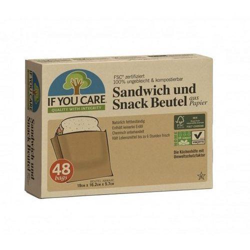 Kompostowalne papierowe torebki na kanapki 48szt marki If you care