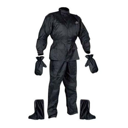 Zestaw przeciwdeszczowy kurtka / spodnie / rękawice / buty Nox, Czarny, 2XL (8595153671389)