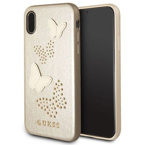 Guess GUHCPXPBUBE iPhone X (beżowy) (3700740407318)