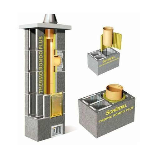 Komin ceramiczny thermo rondo plus 7m fi200 z podwójną wentylacją marki Schiedel