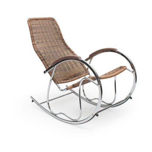 Fotel bujany Ben brązowy