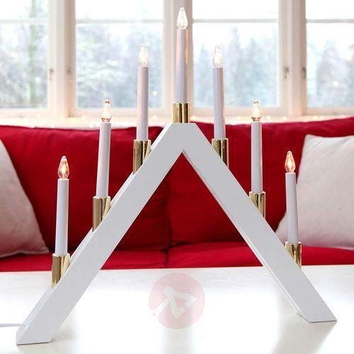 Ponadczasowy piękny świecznik LED Halla, biały