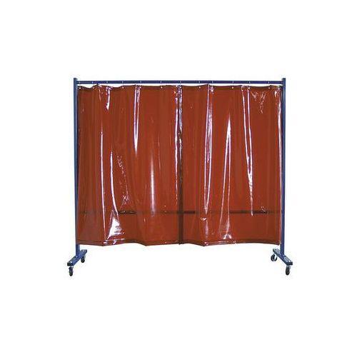 Spawalnicza ścianka ochronna, ruchoma,wersja 1-częściowa, wys. x szer. 1900 x 2100 mm marki Unbekannt