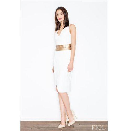 Sukienka model m439 ecru, Figl