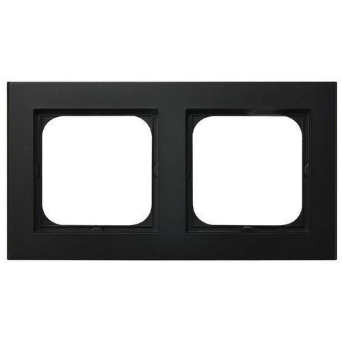 Ospel Ramka podwójna sonata czarny metalik pozioma i pionowa r-2r/33 (5907577446727)