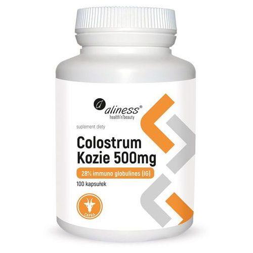 Colostrum kozie 500mg 28% imuno glbulines ig 100 kapsułek aliness marki Aliness medicaline ostrówiec, 05-480 karczew, polska dystrybutor: medi
