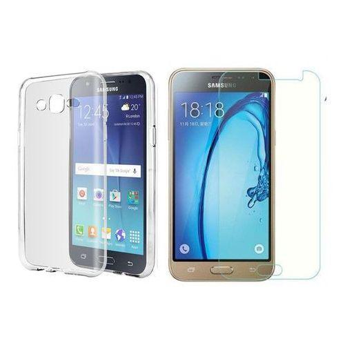 Zestaw   Ultra Slim Przezroczysty   Obudowa + szkło ochronne Samsung Galaxy J3 (2016)