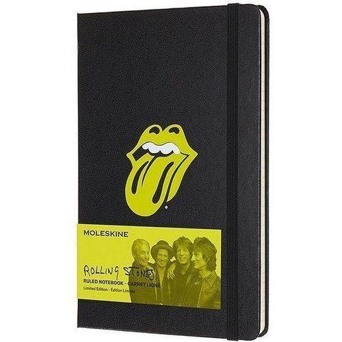Notes Moleskine edycja limitowana Rolling Stones L czarny, LERSQP060BK