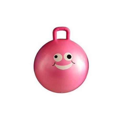 Dziecięca piłka fitness do skakania Lifefit JUMPING BALL 45 cm, różowa