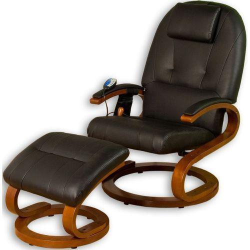 Ekskluzywny fotel z masażem Stilista czarny, kolor czarny
