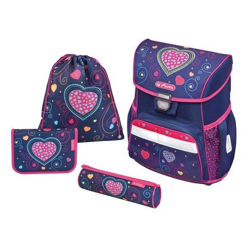 Zestaw tornister Loop Plus Blue Hearts HERLITZ - Blue Hearts, kolor niebieski