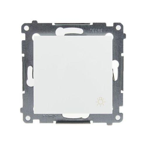 """Kontakt Simon 54 Premium Przycisk """"światło"""" (moduł) 10AX 250V, szybkozłącza, biały DS1.01/11, DS1.01/11KS"""