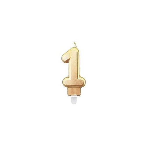 Świeczka cyferka złota - 1 - 1 szt. marki Tamipol