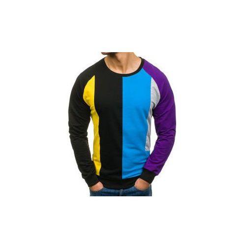 Bluza męska bez nadruku czarna Denley 0751, kolor czarny