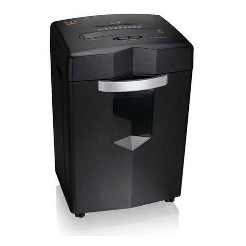 Wysokowydajna niszczarka cross cut shredder ps500-80, czarna, spełnia wymagania rodo marki Peach
