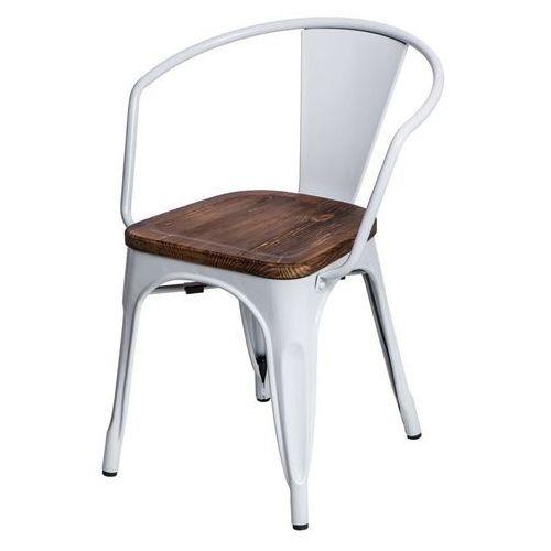 D2.design Krzesło paris arms wood sosna - biały