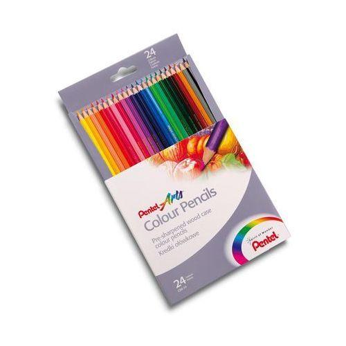Kredki ołówkowe 24 kolorów marki Pentel