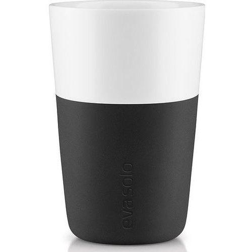 Porcelanowy kubek do latte, czarny, 2 szt - marki Eva solo