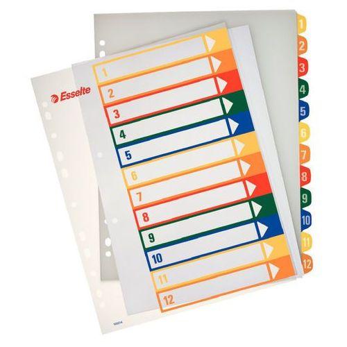 Przekładki numeryczne Esselte Maxi A4+ 12k. do nadruku 100214