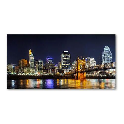 Fotoobraz na ścianę szklany Rzeka Ohio nocą