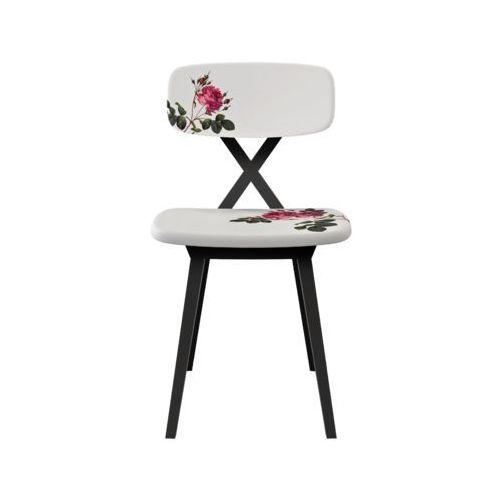 Qeeboo krzesło x z pouszką w kwiatki 16002fl