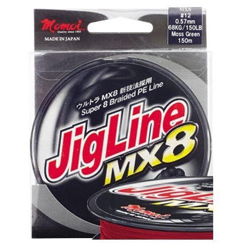 Momoi jigline mx8 / 300m / 0,16mm / 11,00kg / czerwona