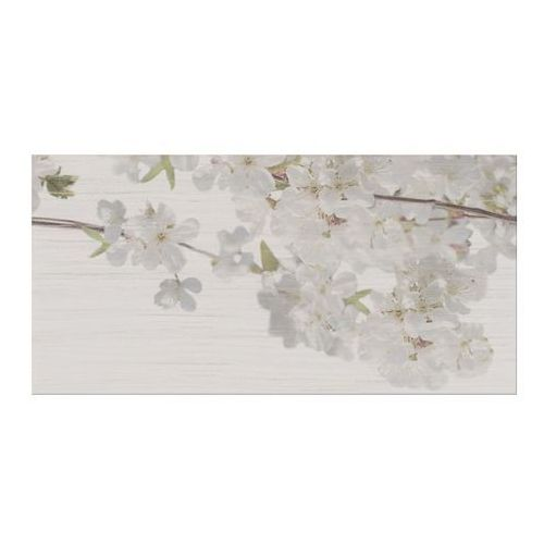 Cersanit Dekor pent 29,7 x 60 cm light grey flower