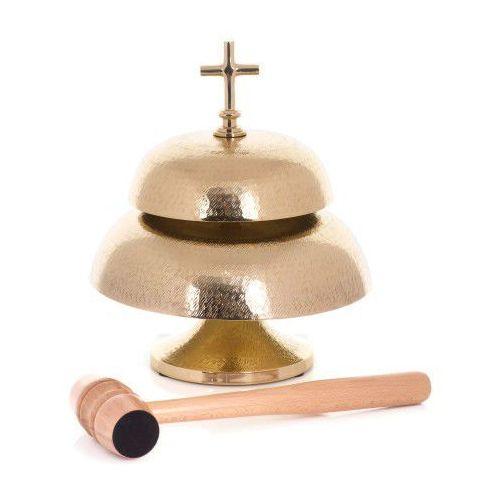 Gong mszalny mosiężny, podwójny, UR786927