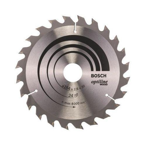 Bosch accessories Tarcza do piły tarczowej optiline wood, 184 x 30 x 2,6 mm, 24 2608640610, 1 szt.