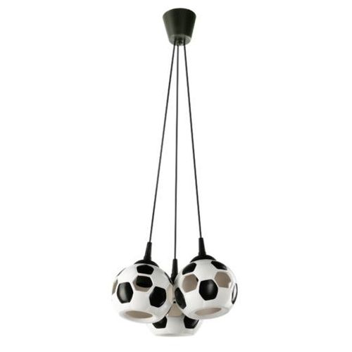 LAMPA wisząca LAMP 651/3 dziecięca OPRAWA zwis piłka nożna kule balls białe czarne, LAMP 651/3