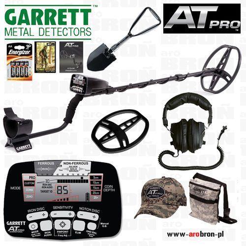 Wykrywacz metalu GARRETT AT PRO + słuchawki + osłona + saperka, kup u jednego z partnerów