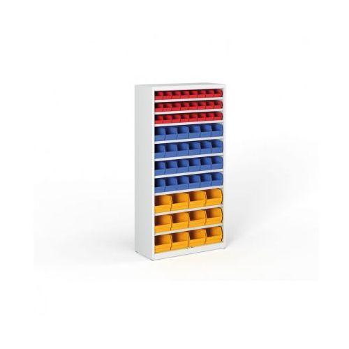 Regał z plastikowymi pojemnikami - 1800x920x400 mm, 24xa,14xb,12xc marki B2b partner