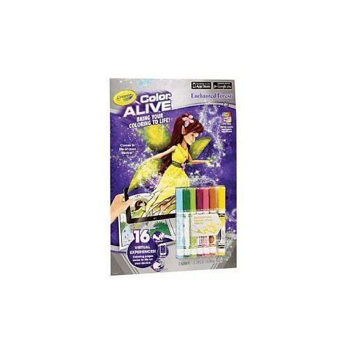 Crayola Kolorowanka multimedialna colour alive zaczarowany las 95-1050 z aplikacją na tablet (0071662951054)