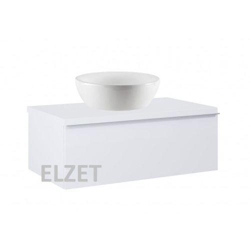 ELITA szafka Look 1S white pod umywalkę nablatową + blat 80 white 167079+166892