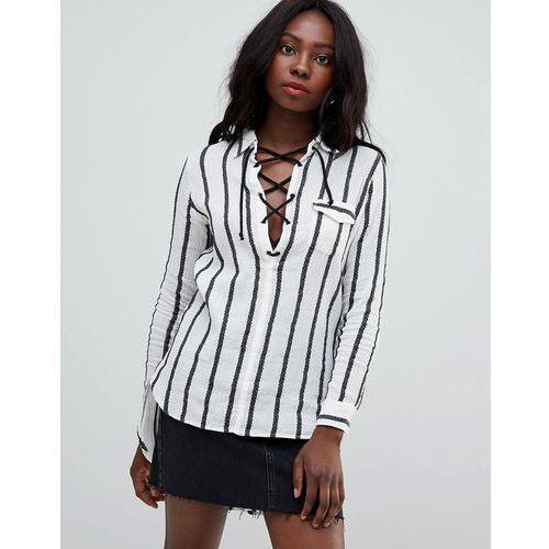 stripe blouse - white marki Glamorous