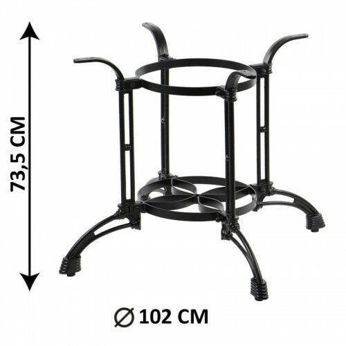 Podstawa stolika żeliwna SH-5033/B, (stelaż stolika), kolor czarny (5903917403962)