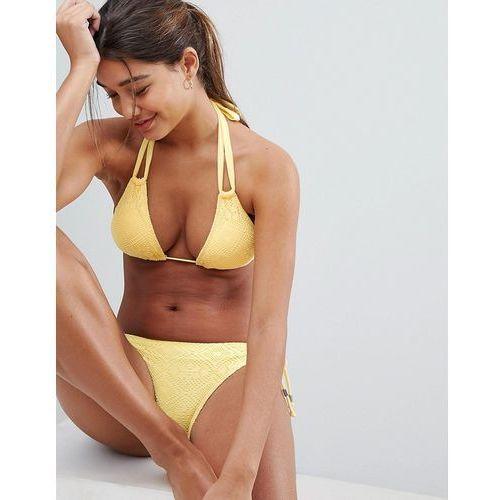 Dorina Yellow Triangle Crochet Bikini Top - Yellow