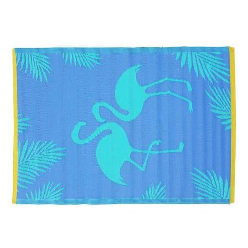 Dywan do wewnątrz lub na zewnątrz flamio - 100% polipropylenu - 120 x 180 cm - niebieski i różowy marki Vente-unique