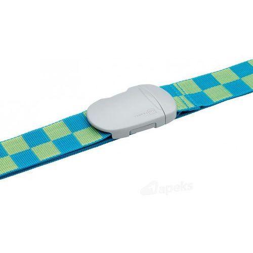dg/221 pas do zabezpieczenia bagażu 5 cm - niebieski / zielony marki Go travel