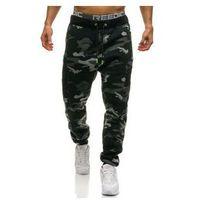 Spodnie męskie dresowe joggery moro-szare denley 2111, T&c star