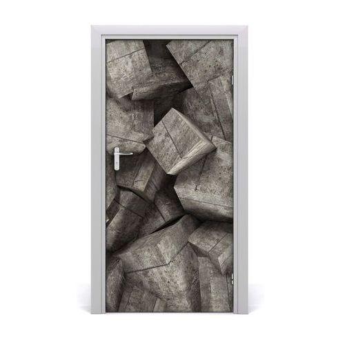 Naklejka samoprzylepna na drzwi Betonowe sześciany