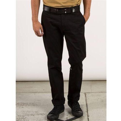 Volcom Spodnie - frickin modern stret black (blk) rozmiar: 30