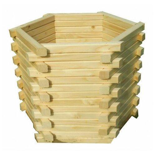 Drewniana sześciokątna donica ogrodowa 15 kolorów - vincento marki Elior