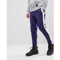 Sixth June skinny joggers in black with side stripe - Black