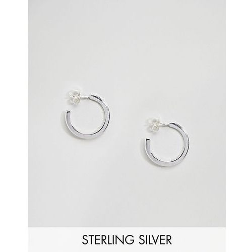 Weekday Sterling Silver Element Hoop Earrings - Silver, kolor szary
