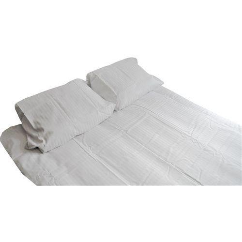 Pościel hotelowa adamaszek biała 160x200cm marki Zdrowy sen