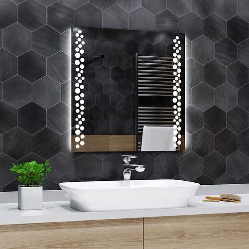 Lustro łazienkowe z podświetleniem led - 100x100cm - toronto marki Alasta