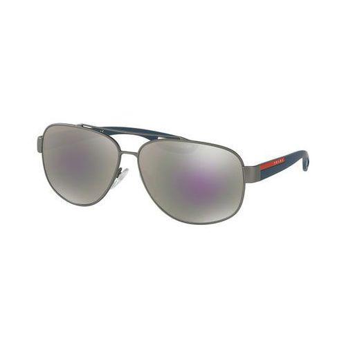 Prada linea rossa Okulary słoneczne ps58qs lj silver dg12e2