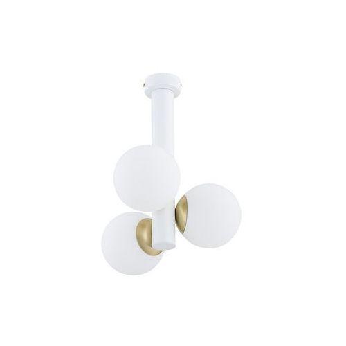 Lemir Ente O2813 W3 BIA plafon lampa sufitowa żyrandol 3x40W E14 biały mat / patyna (5902082869139)