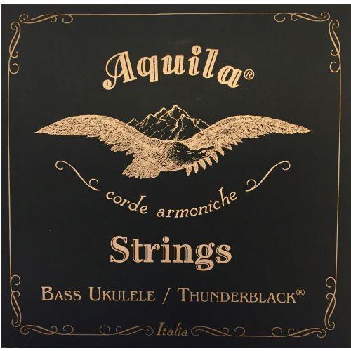 thunderblack bass struny do ukulele, eadg, 20 scale marki Aquila